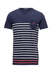 Custom Slim Fit Cotton T-Shirt - NEWPORT NAVY MULT