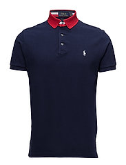 Custom Slim Fit Mesh Polo - CRUISE NAVY