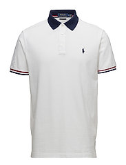 Custom Slim Fit Mesh Polo - WHITE