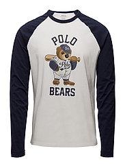 Custom Slim Fit Cotton T-Shirt - WHITE/CRUISE NAVY
