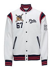 Polo Bear Baseball Jacket - WHITE