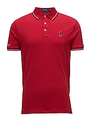 Custom Slim Fit Mesh Polo - RALPH RED