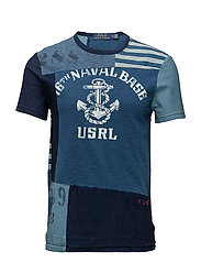 Custom Slim Fit Cotton T-Shirt - INDIGO/NAVY MU