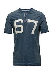 Custom Slim Fit Cotton T-Shirt - DARK INDIGO