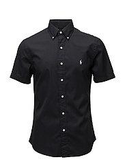 Slim Fit Cotton Twill Shirt - POLO BLACK