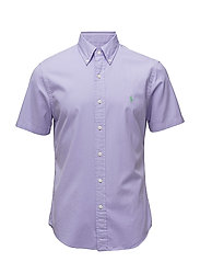 Slim Fit Cotton Twill Shirt - POWDER PURPLE