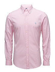 Slim Fit Cotton Twill Shirt - CARMEL PINK