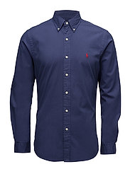 Slim Fit Cotton Twill Shirt - NEW CLASSIC NAVY