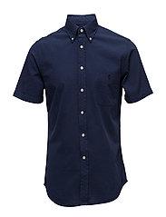 Slim Fit Cotton Sport Shirt - ASTORIA NAVY