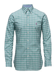 Slim Fit Cotton Shirt - 2627 VINE GREEN/M