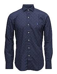 Slim Fit Cotton Poplin Shirt - 2552 SHADOW GEOME