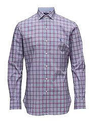 Slim Fit Cotton Poplin Shirt - 2628 PEARL/RUBY M