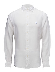Slim Fit Linen Sport Shirt - WHITE