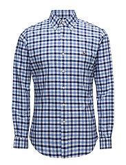 Slim Fit Cotton Oxford Shirt - 2598 MULTI BLUE/W
