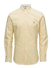 Slim Fit Cotton Oxford Shirt - BSR YELLOW
