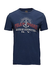 Custom Slim Fit Cotton T-Shirt - NEWPORT NAVY