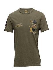 Custom Slim Fit Cotton T-Shirt - DEFENDER GREEN