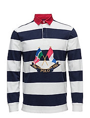Classic Fit Cotton Rugby Shirt - CRUISE NAVY/WHITE