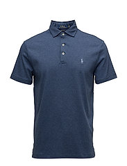Custom Slim Fit Soft-Touch Polo - DERBY BLUE HEATHE