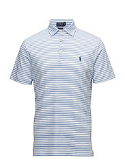 Custom Slim Fit Polo Shirt - WHITE/AUSTIN BLUE