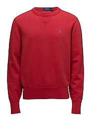 FLEECE-LSL-KNT - SPRING RED