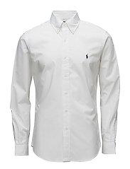 Slim Fit Stretch Cotton Shirt - WHITE