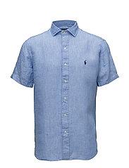 Classic Fit Linen Sport Shirt - 2589F BLUE/WHITE