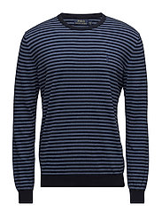 Striped Cotton Sweater - NAVY/BLUE