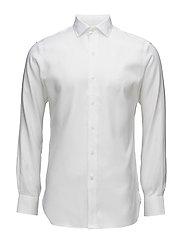 Slim Fit Cotton Dobby Shirt - WHITE