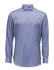 Slim Fit Cotton Dobby Shirt - 1906A PERI BLUE/W