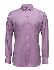 Slim Fit Cotton Dobby Shirt - 1906B LAVENDER/WH