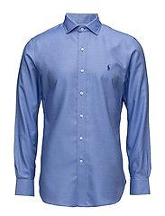 Slim Fit Cotton Dobby Shirt - 1908 BLUE/WHITE