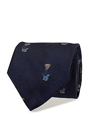 Polo Bear Silk Repp Narrow Tie - NAVY