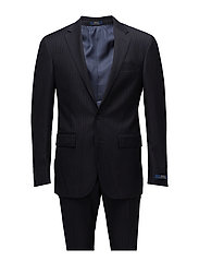 Polo Chalk-Stripe Wool Suit - NAVY AND CREAM