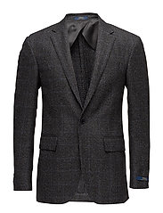 Polo Glen Plaid Sport Coat - BLACK AND GREY W