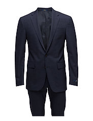 Polo Glen Plaid Suit - NAVY AND BLACK
