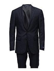 Polo Windowpane Birdseye Suit - BLACK AND NAVY W/
