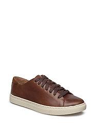 Jermain Leather Sneaker - DEEP SADDLE TAN/N