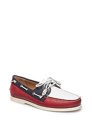 SMOOTH LEATHER-MERTON-SO-BTS - RED/WHITE/NAVY