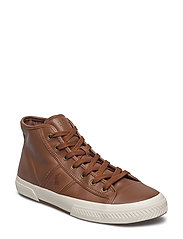 Tremayne Nappa Leather Sneaker - DEEP POLO TAN