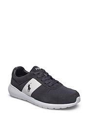 Cordell Leather Sneaker - DARK CARBON GREY/WHITE