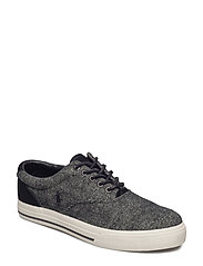 Vaughn Herringbone Sneaker - BLACK/CREAM