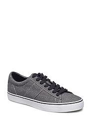 Sayer Chambray Low-Top Sneaker - BLACK