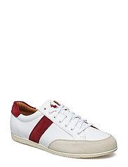 Price Leather Low-Top Sneaker - WHITE/GARNET/IVOR