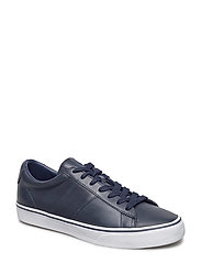 Sayer Calfskin Low-Top Sneaker - BRIGHT NAVY