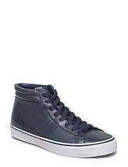 Shaw Calfskin High-Top Sneaker - BRIGHT NAVY