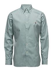 SL HB BD PPC-DRESS SHIRT - 1021B GREEN/WHI