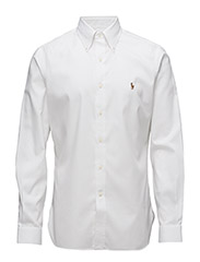 Slim Fit Cotton Oxford Shirt - WHITE