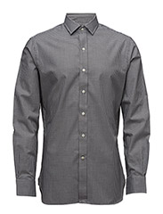 SLIM-FIT STRETCH POPLIN SHIRT - 1440 NERO/BLANC