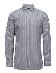 SLIM-FIT STRIPED ESTATE SHIRT - 1412 DARK SKY/W
